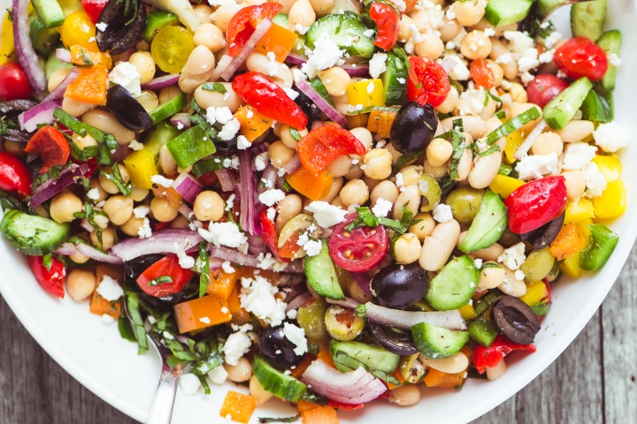 Gorgeous Greek bean salad